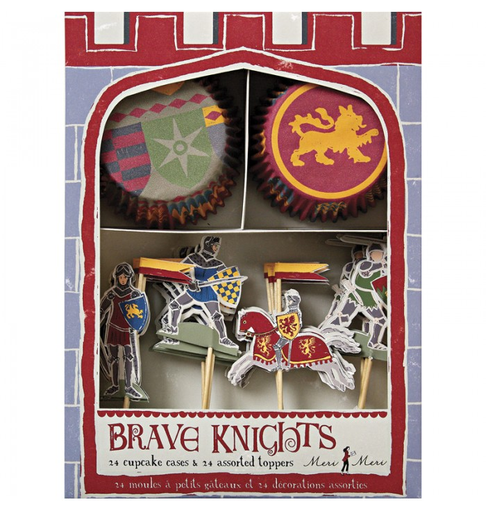Set For Cupcakes And Toppers - Knights - Meri Meri