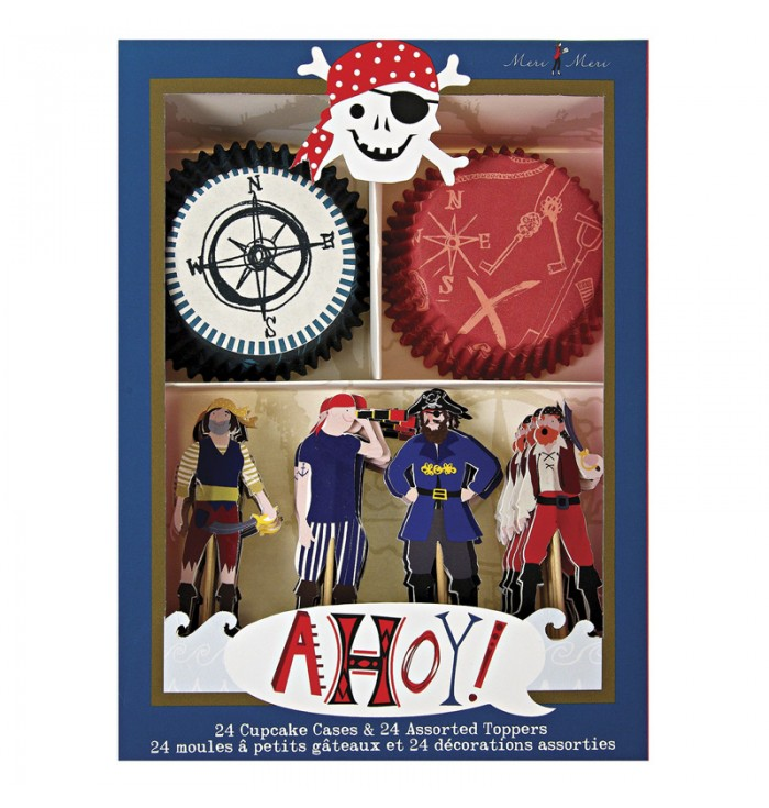 Set For Cupcakes And Toppers Pirates
