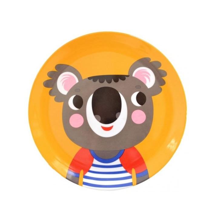 Piattino piano colorato in melamina con Koala