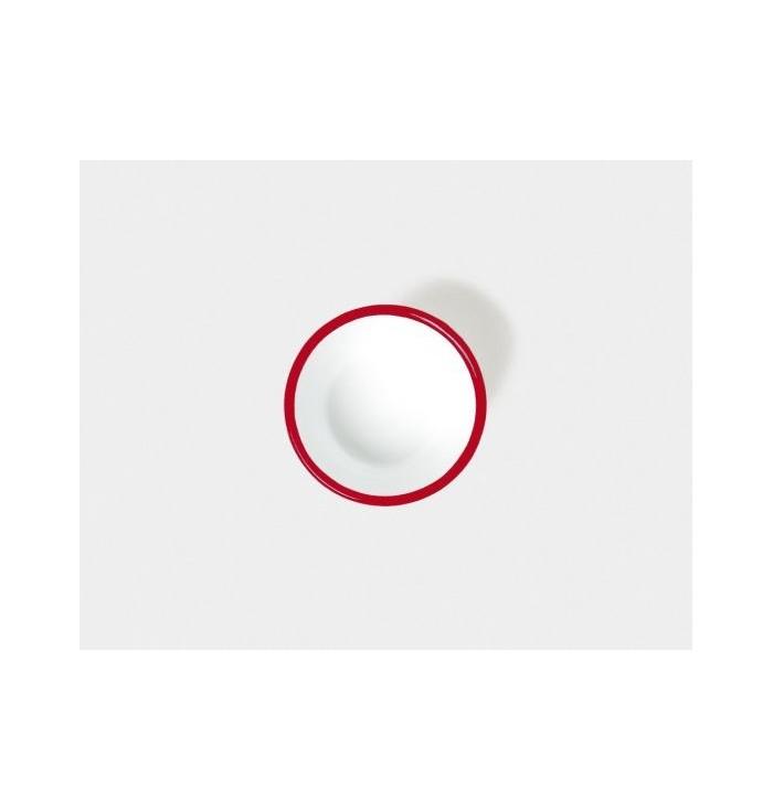 Ciotola in metallo smaltato 13 cm - Rosso