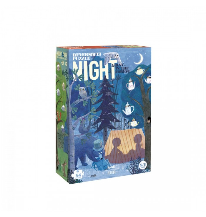 Puzzle 54 pezzi Londji - Day & Night in the Forest