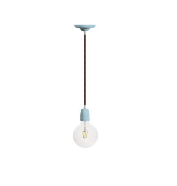 Filotto ceramic lamp with coloured wire