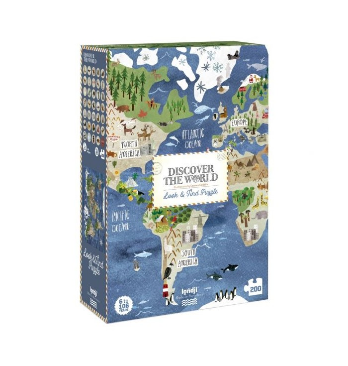 200 pieces Londji Puzzle - Discover the world