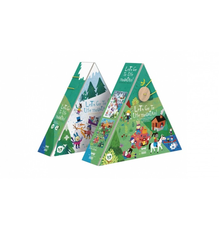 Puzzle 36 pezzi Londji - Let's go to the mountain