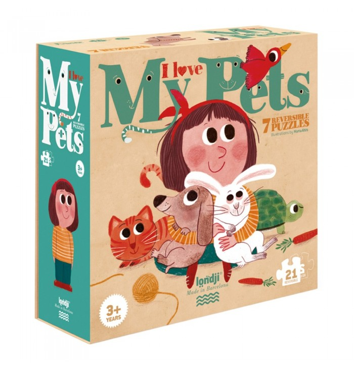 21 pieces Londji Puzzle - I love my Pets
