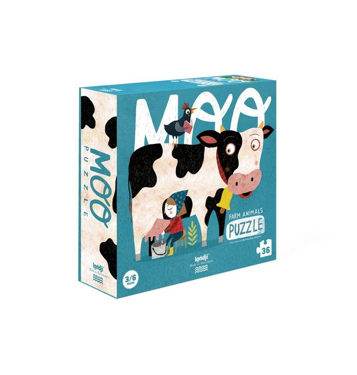 36 pieces Londji Puzzle - MOO