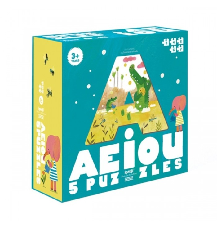 Puzzle 25 pezzi Londji - AEIOU