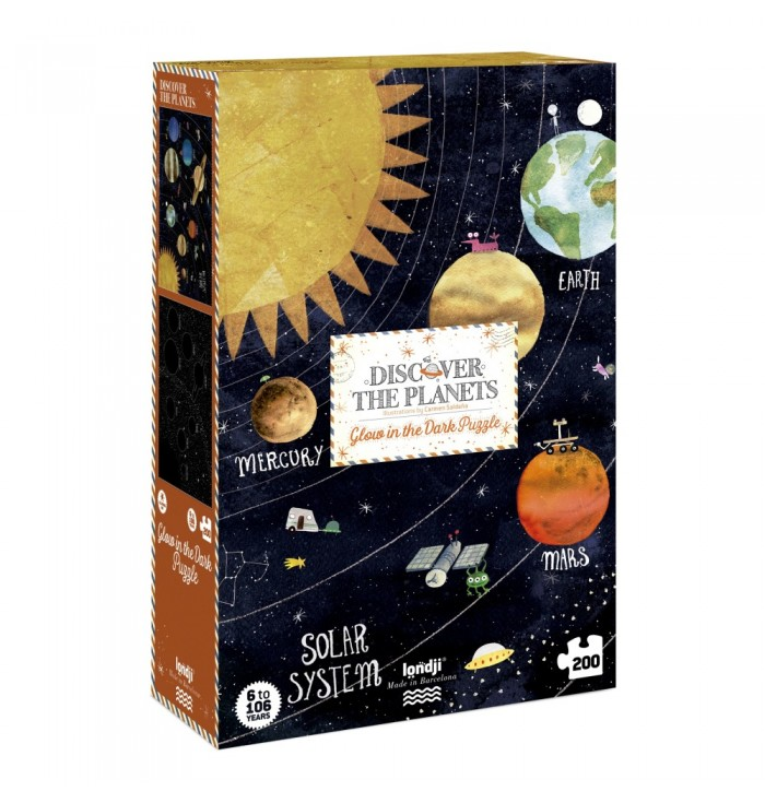 200 pieces Londji Puzzle - Discover the planets
