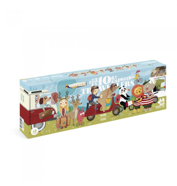 55 pieces Londji Puzzle - 10 travellers
