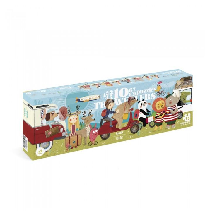 Puzzle 55 pezzi Londji - 10 travellers