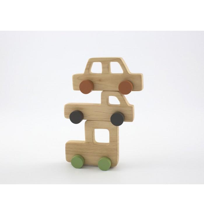 Mini trainabili in legno - Mezzi di trasporto retrò