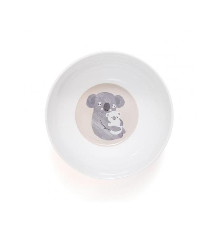 scodella in melamina con animali - bradipo, koala