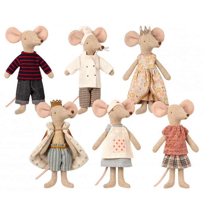 Big girl Mouses with dresses - Maileg