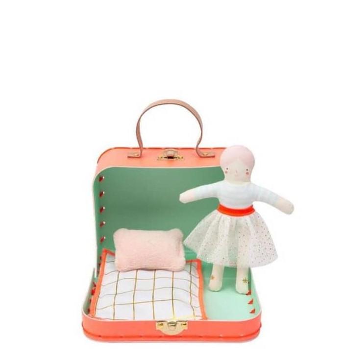 Mini Matilda Doll with suitcase - Meri Meri