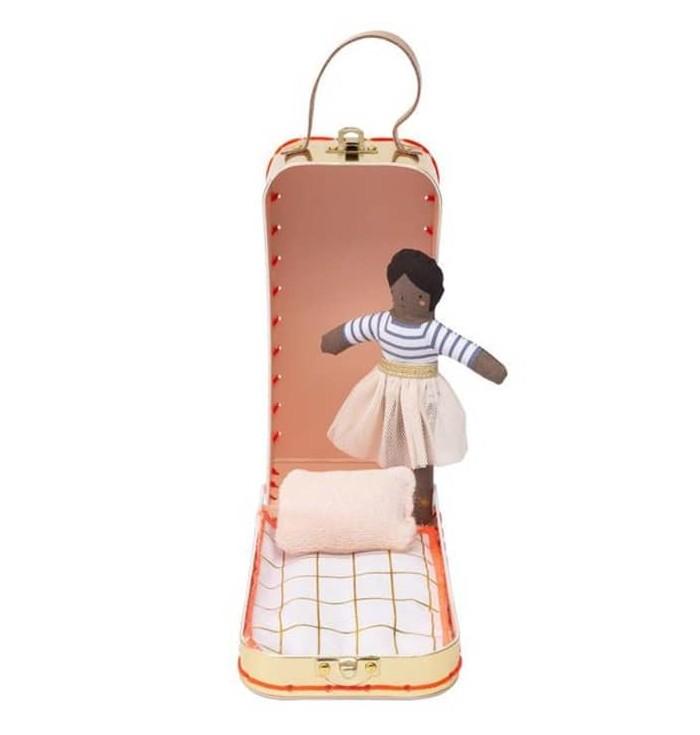 Mini Ruby Doll with suitcase - Meri Meri