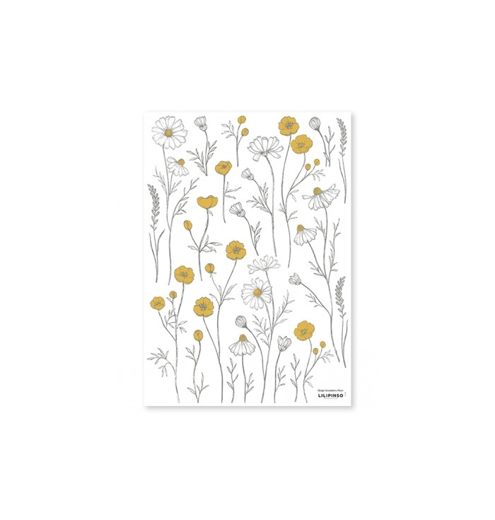 Lilipinso Wall Stickers - Chamomile Flowers