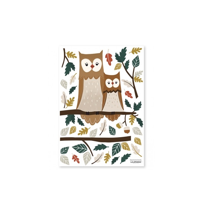 Lilipinso Wall Stickers - Owl Family
