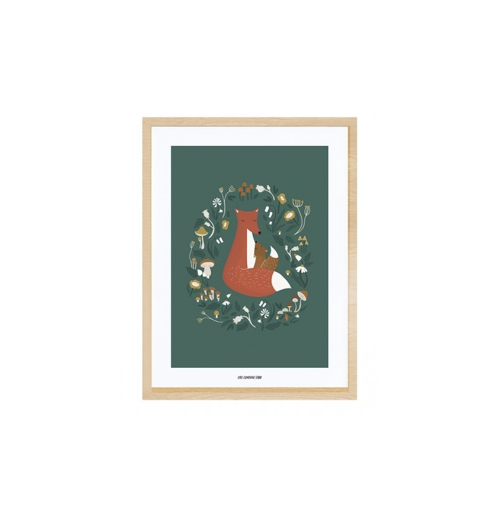 Lilipinso Poster & Frame - Fox Family