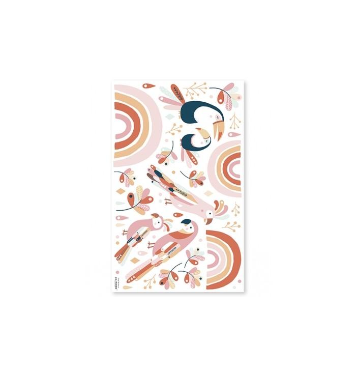 Stickers murali Lilipinso - Tropical Rosa e Arancione - Lilipinso