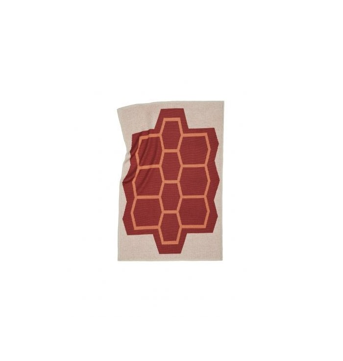 Knitted blanket - Foam turtle - Catharina Mende