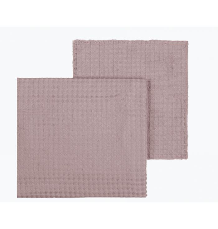 Fabric Gauze Waffle N° 74 - Dusty Pink