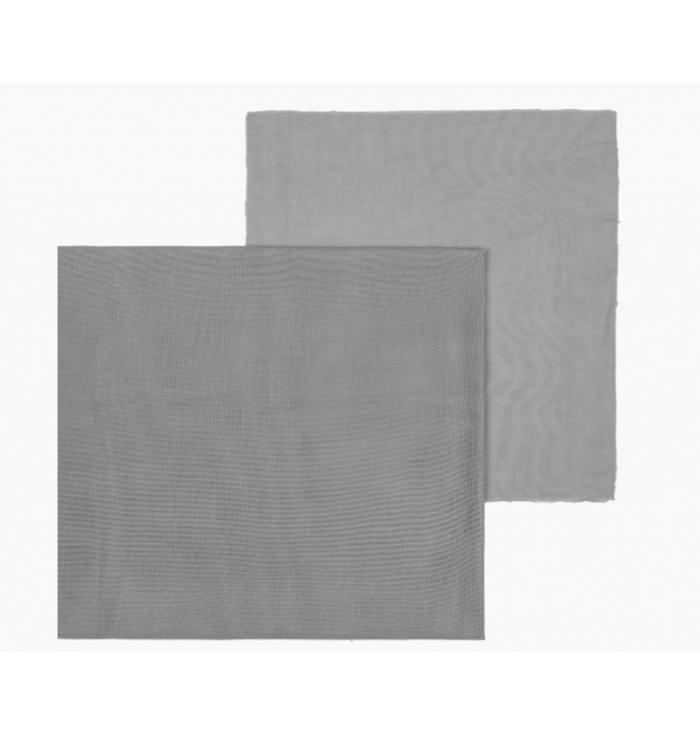 Fabric Double Saloo N° 74 - Silver Grey