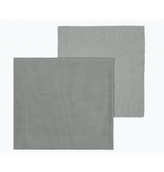N° 74 Fabric Double Saloo - Silver Grey