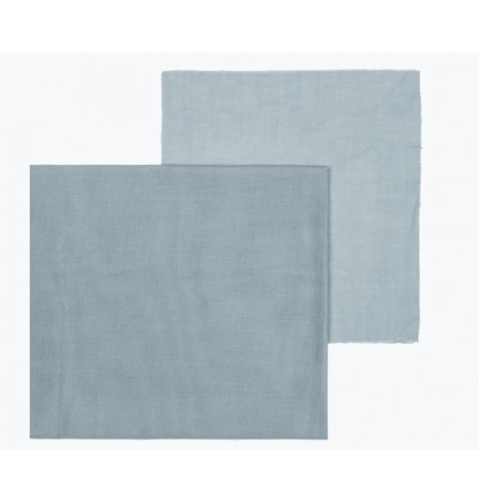 Fabric Double Saloo N° 74 - Sweet Blue