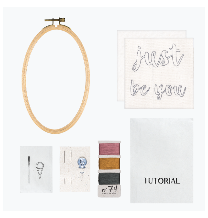 N° 74 Hoop Kit Quote - Just be You