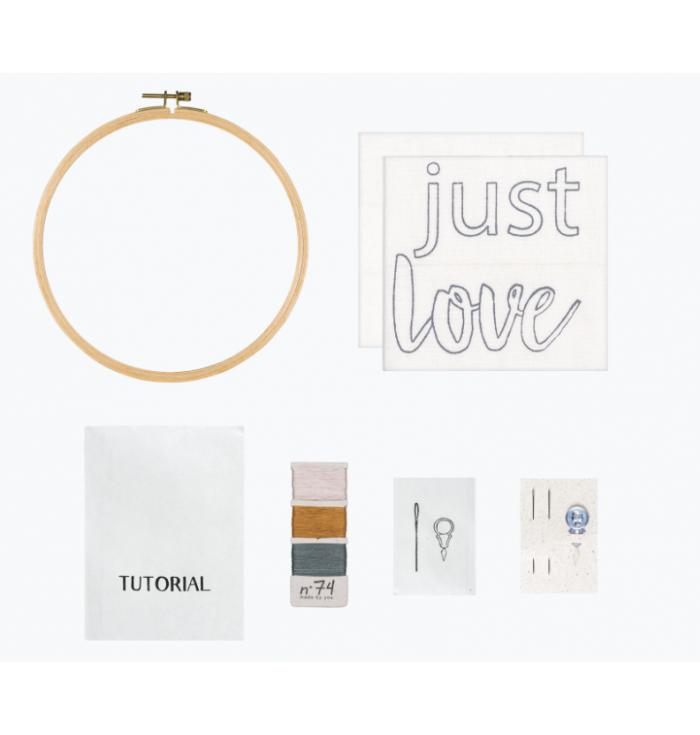 N° 74 Hoop Kit Quote - Just Love
