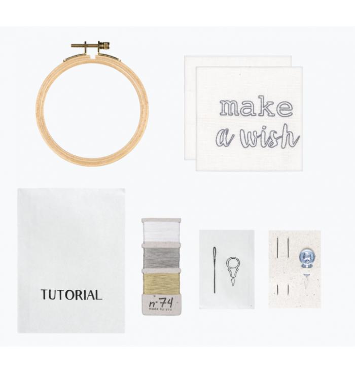 N° 74 Hoop Kit Quote - Make a Wish