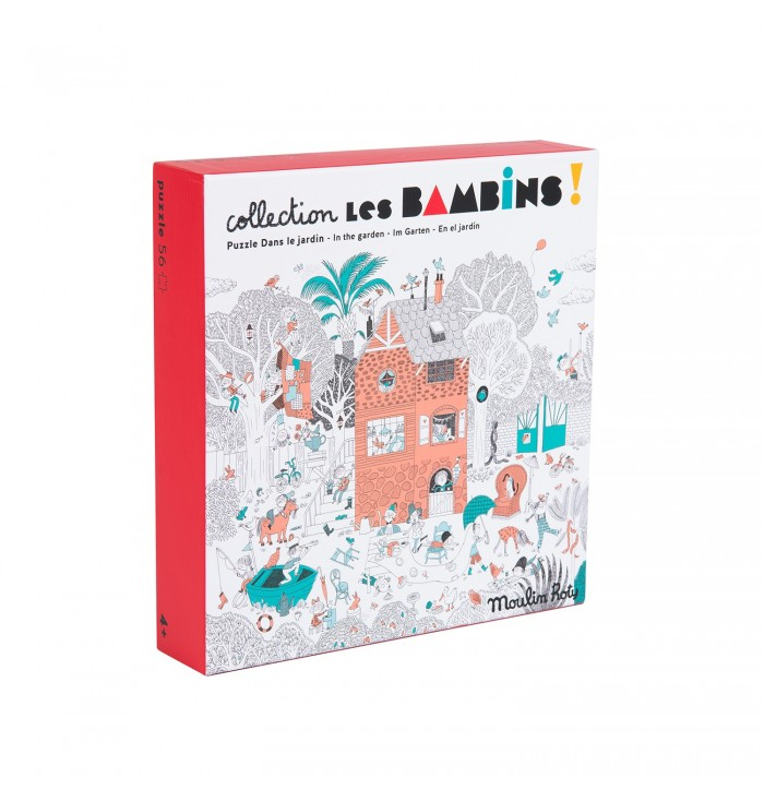Puzzle Les Bambins Moulin Roty - In Giardino