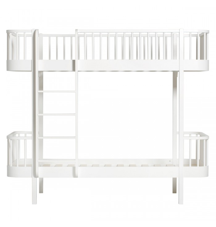 Wood original  Bunk bed with frontal staircase - Oliver Furniture