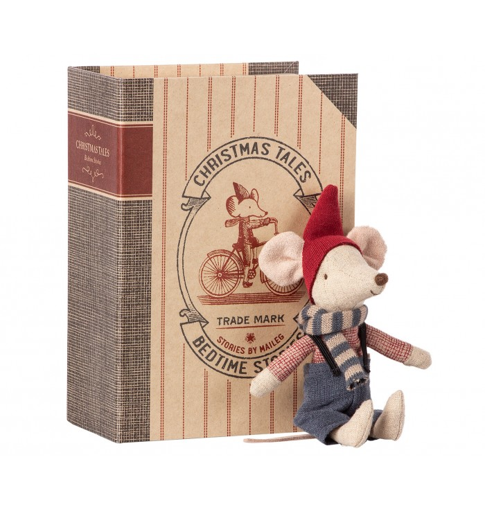 Christmas Mouse in a Book