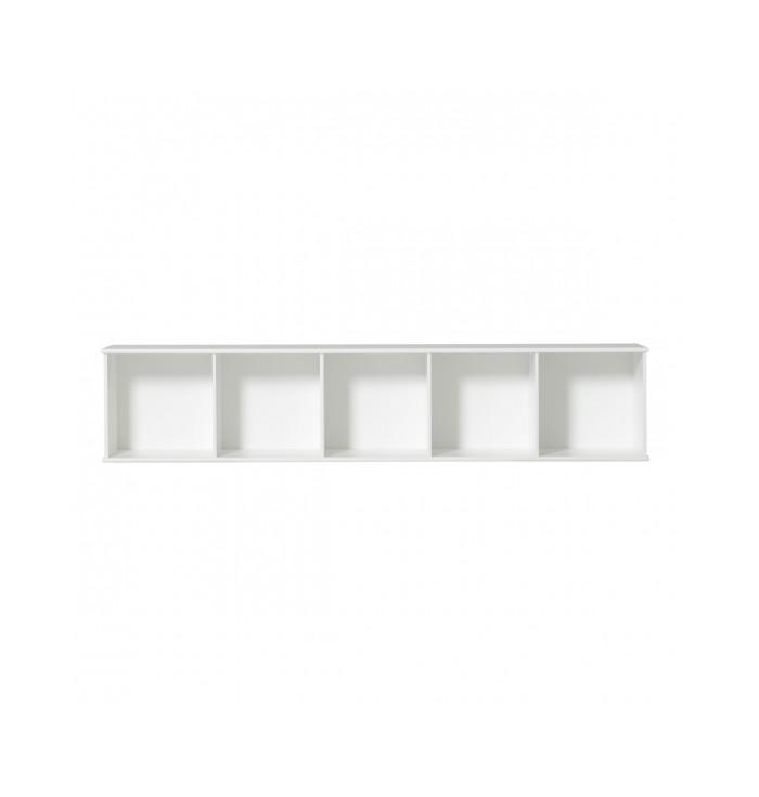 Wood Shelving Unit 5x1 - Oliver Furniture