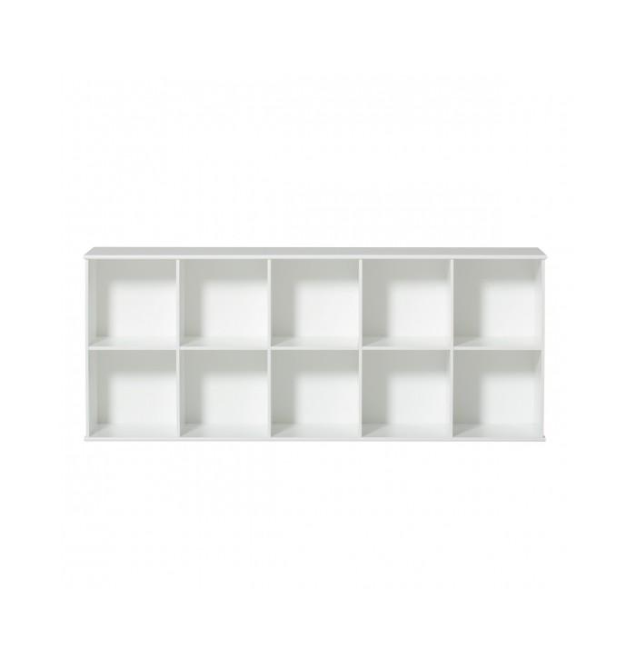 Wood Shelving Unit 5x2 - Oliver Furniture