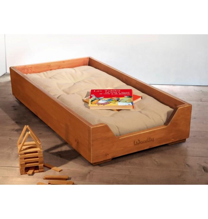 Lettino Montessori Impilabile con Futon - Miele - Woodly