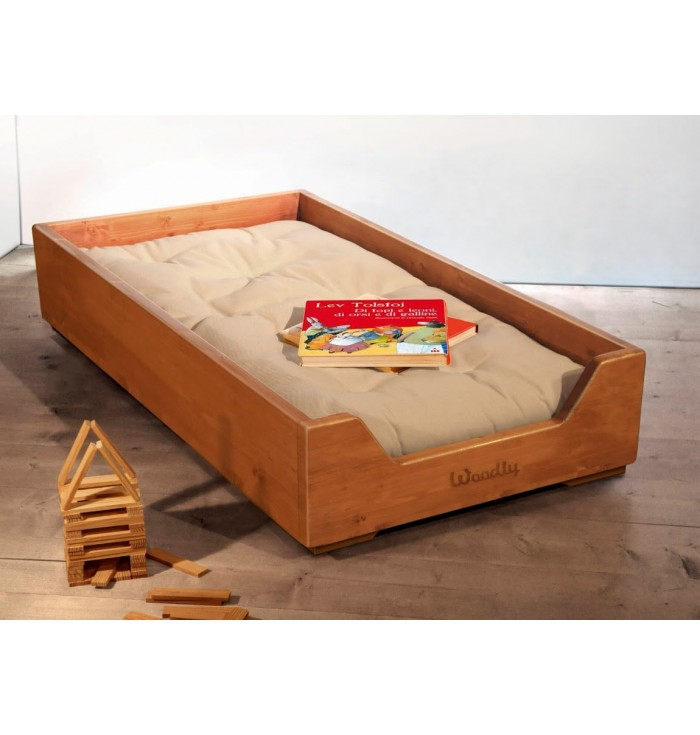 Stackable cot with Futon Montessori - Honey - Woodly