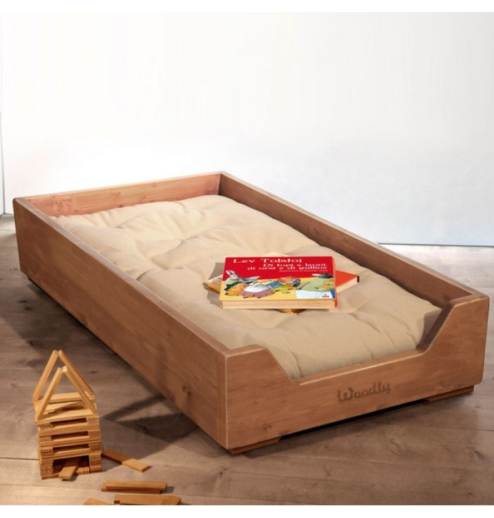 Stackable cot with Futon Montessori - Natural wood - Woodly