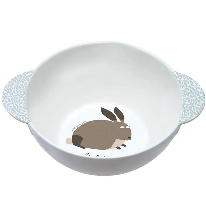 Melamine bowl with handles - Le Lapin