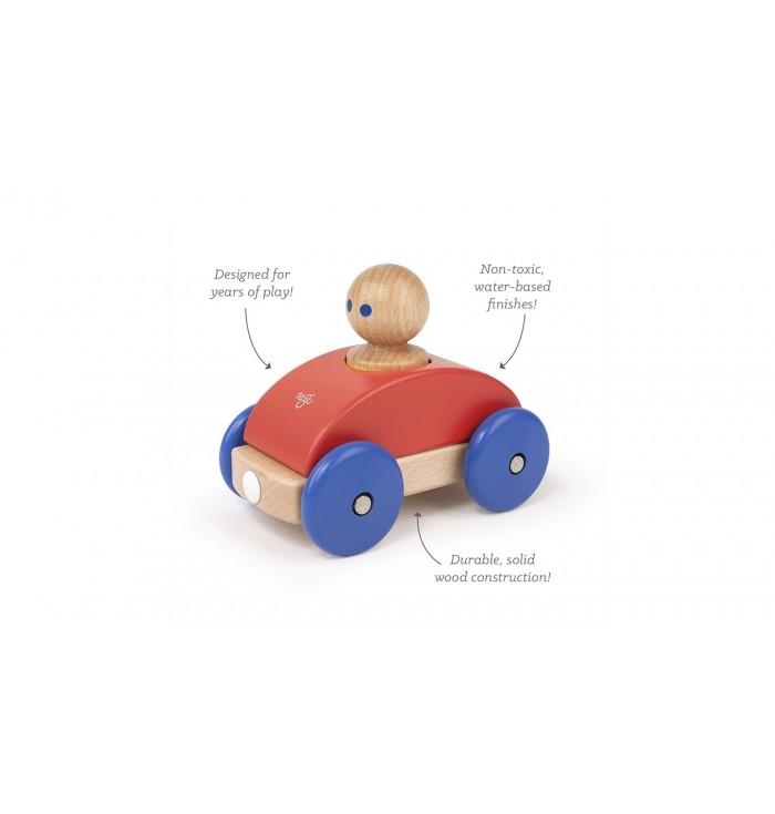 Tegu Magnetic Racer - Poppy & Blue
