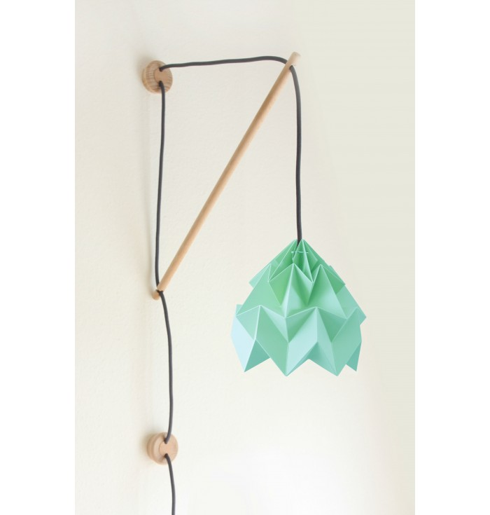 Lampada in carta Origami Moth + portalampada da muro Klimoppe - Snowpuppe