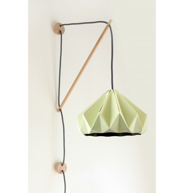 Lampada in carta Origami Castagna + portalampada da muro Klimoppe - Snowpuppe