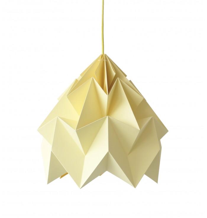 Lampada in carta Origami Moth XL - tinta unita