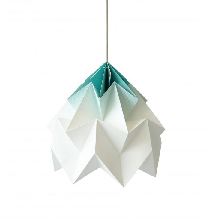 Lampada in carta Origami Moth XL - sfumata