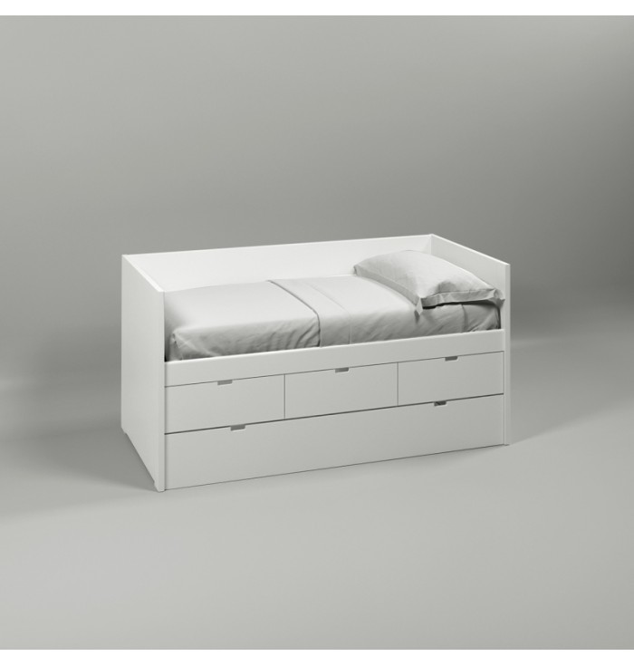 Block Bed with back and guest bed - Muba