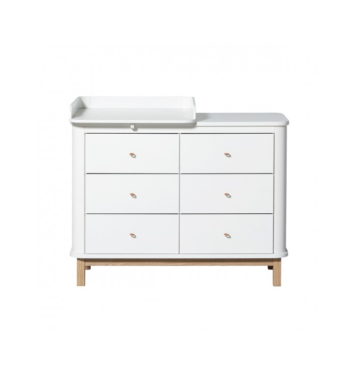 Wood Nursery Small Dresser with 6 Drawers - Oliver Furniture
