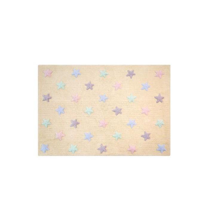 Tricolor Stars Vanilla Rug - Lorena Canals
