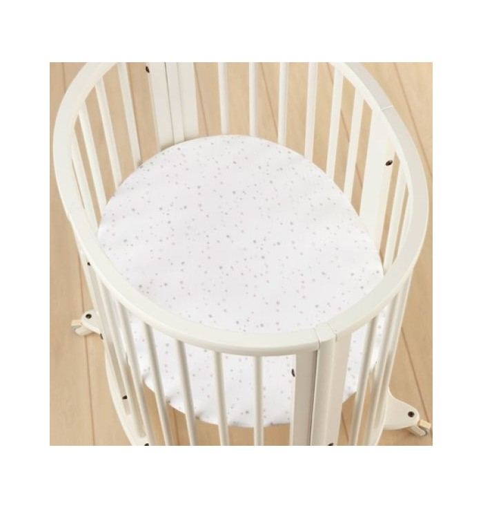Stokke's oval crib sheet with elastic