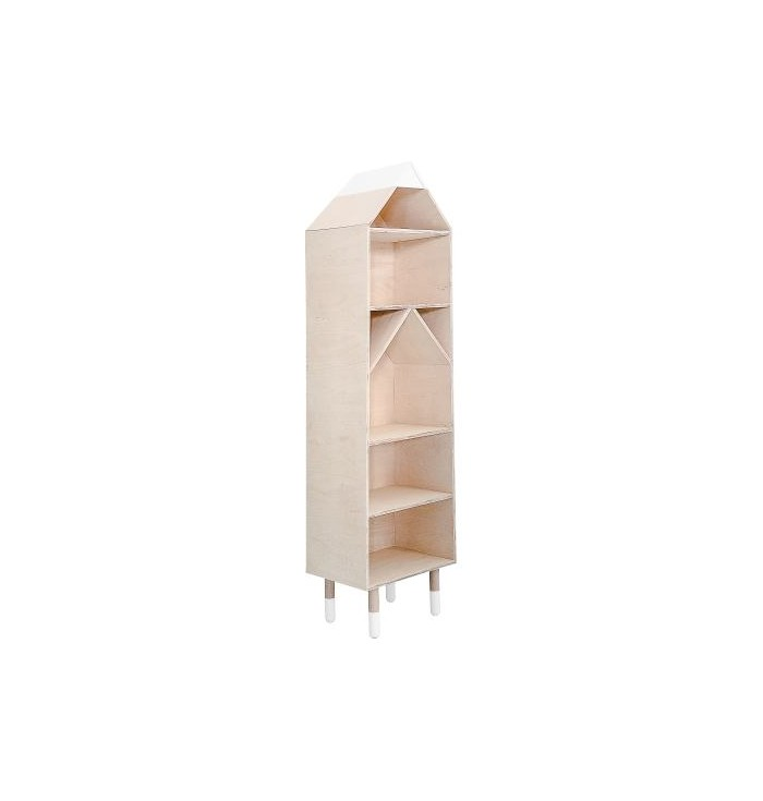 River Collection - Bookcase Birchwood - Wood Luck